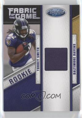 2011 Certified - Rookie Fabric of the Game #6 - Torrey Smith /250