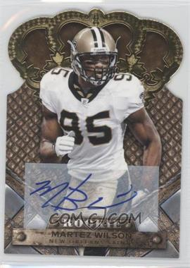 2011 Crown Royale - [Base] - Gold Signatures [Autographed] #161 - Martez Wilson /499