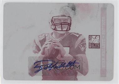 2011 Donruss Elite - [Base] - Rookie Printing Plate Magenta #186 - Ryan Mallett /1