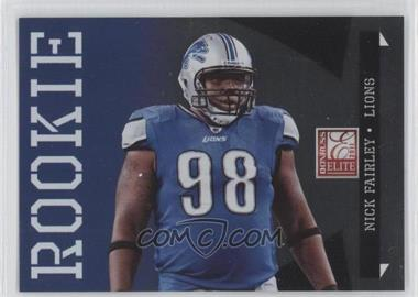 2011 Donruss Elite - [Base] - Rookie Variations #169 - Nick Fairley /999