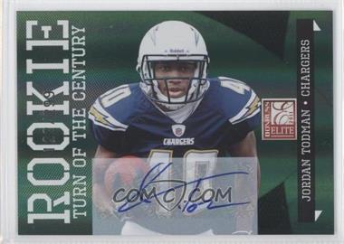 2011 Donruss Elite - [Base] - Turn of the Century Rookie Signatures [Autographed] #155 - Jordan Todman /299