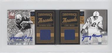 2011 Donruss Elite - Throwback Threads Booklets - Autographs [Autographed] #7 - Lenny Moore, Raymond Berry /25