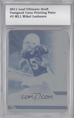 2011 Leaf Ultimate Draft - [Base] - Printing Plate Cyan #U-ML1 - Mikel Leshoure /1 [ENCASED]