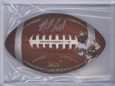 2011 Leaf Ultimate Draft - Football Die-Cuts - Gold #FB-1 - Nathan Enderle