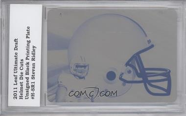 2011 Leaf Ultimate Draft - Helmet Die-Cuts - Printing Plate Black #H-SR1 - Stevan Ridley /1 [ENCASED]