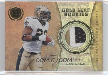 2011 Panini Gold Standard - Gold Leaf Rookies - Materials Prime [Memorabilia] #10 - Mark Ingram /25