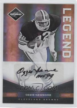 2011 Panini Limited - [Base] - Monikers Gold [Autographed] #101 - Ozzie Newsome /25