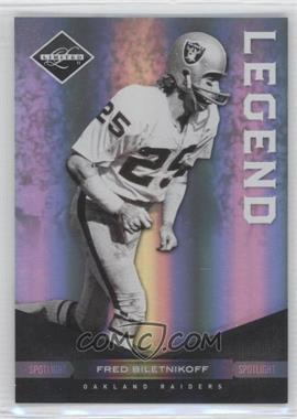 2011 Panini Limited - [Base] - Spotlight Silver #124 - Fred Biletnikoff /50