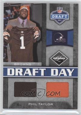 2011 Panini Limited - Draft Day Materials - Combos #12 - Phil Taylor /50