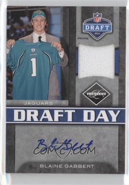 2011 Panini Limited - Draft Day Materials - Limited Jerseys Prime Signatures [Autographed] #7 - Blaine Gabbert /15