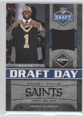 2011 Panini Limited - Draft Day Materials - Limited Jerseys #13 - Mark Ingram /100