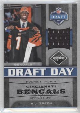 2011 Panini Limited - Draft Day Materials - Limited Jerseys #3 - A.J. Green /100