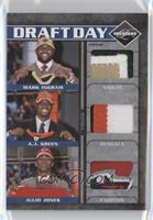 A.J. Green, Julio Jones, Mark Ingram #/25