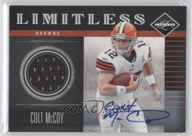 2011 Panini Limited - Limitless - Threads Signatures [Autographed] #1 - Colt McCoy /25