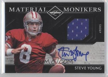 2011 Panini Limited - Material Monikers #32 - Steve Young /30