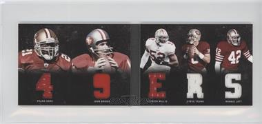 2011 Panini Playbook - Materials Booklet #23 - John Brodie, Patrick Willis, Ronnie Lott, Steve Young, Frank Gore /49