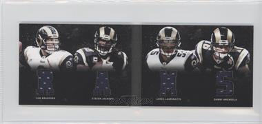 2011 Panini Playbook - Materials Booklet #28 - James Laurinaitis, Sam Bradford, Steven Jackson, Danny Amendola /49