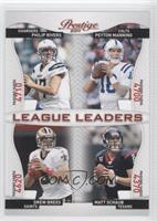 Matt Schaub, Peyton Manning, Philip Rivers, Drew Brees