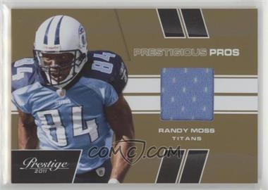 df4fda95eb6 2011 Panini Prestige - Prestigious Pros - Gold Materials  Memorabilia   39  - Randy Moss  50
