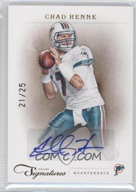 2011 Panini Prime Signatures - [Base] - Gold Signatures [Autographed] #27 - Chad Henne /25