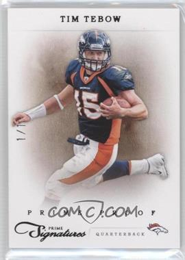 2011 Panini Prime Signatures - [Base] - Prime Proof Black #164 - Tim Tebow /1