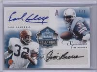 Jim Brown, Earl Campbell #1/1