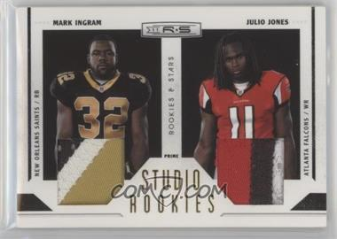 2011 Panini Rookies & Stars - Studio Rookies Combos - Materials Prime [Memorabilia] #10 - Julio Jones, Mark Ingram /50