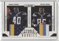 Jordan Todman, Vincent Brown #/50