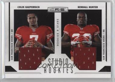 2011 Panini Rookies & Stars - Studio Rookies Combos - Materials #9 - Colin Kaepernick, Kendall Hunter /299