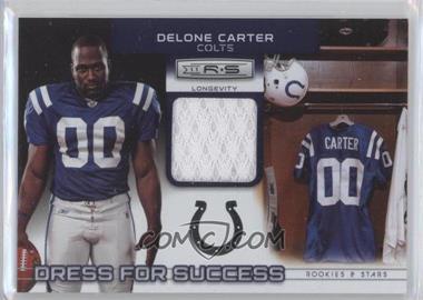 2011 Panini Rookies & Stars Longevity - Dress for Success Jerseys #8 - Delone Carter /249