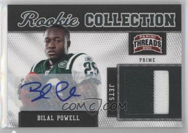 2011 Panini Threads - Rookie Collection Materials - Prime Signatures [Autographed] #5 - Bilal Powell /15