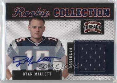 2011 Panini Threads - Rookie Collection Materials - Signatures [Autographed] #27 - Ryan Mallett /25