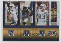 Antonio Gates, Philip Rivers, Vincent Jackson #/100