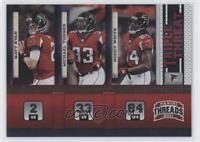 Matt Ryan, Roddy White, Michael Turner /100