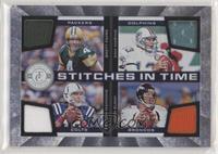 Brett Favre, John Elway, Dan Marino, Peyton Manning #/100