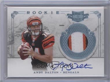 2011 Plates & Patches - [Base] - RPS Rookie Jersey Nameplate Prime Signatures [Autographed] [Memorabilia] #211 - Andy Dalton /25