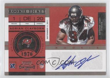 2011 Playoff Contenders - [Base] #103 - Adrian Clayborn