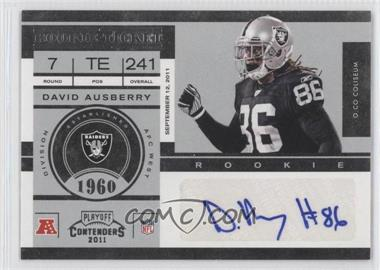 2011 Playoff Contenders - [Base] #127 - David Ausberry
