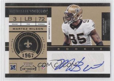 2011 Playoff Contenders - [Base] #157 - Martez Wilson /134