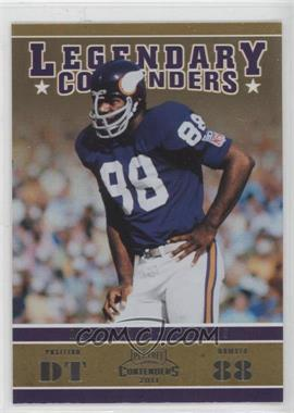 2011 Playoff Contenders - Legendary Contenders #15 - Alan Page