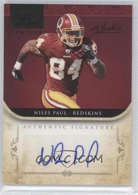 2011 Playoff National Treasures - [Base] - Century Black Signatures [Autographed] #268 - Niles Paul
