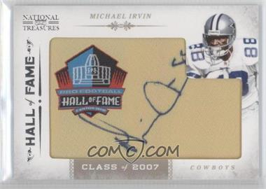 2011 Playoff National Treasures - Embroidered Hall of Fame Patches #24 - Michael Irvin /40