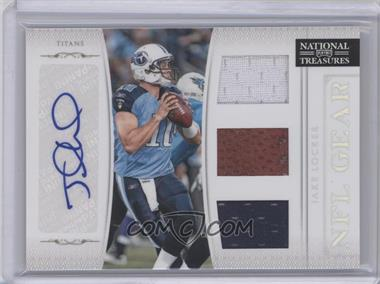 2011 Playoff National Treasures - NFL Gear - Trios Signatures [Autographed] #15 - Jake Locker /49
