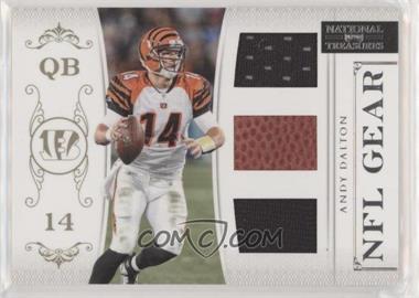 2011 Playoff National Treasures - NFL Gear - Trios #3 - Andy Dalton /99