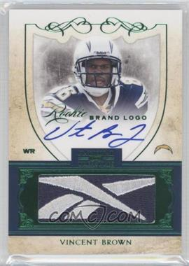 2011 Playoff National Treasures - Rookie Brand Logo Signatures #15 - Vincent Brown /10