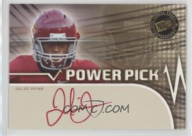2011 Press Pass - Power Pick Autographs - Red Ink #PP-JJ - Julio Jones /250