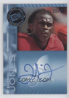 2011 Press Pass - Signings - Blue #PPS-JJ - Julio Jones /50