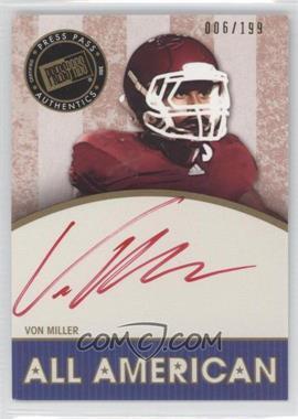 2011 Press Pass Legends - [???] #AA-VM - Von Miller /199