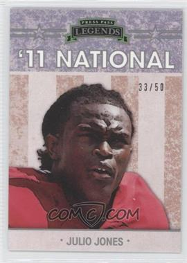 2011 Press Pass Legends - [???] #NE-3 - Julius Jones /50