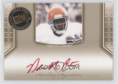 2011 Press Pass Legends - [???] #SS-DC - Delone Carter